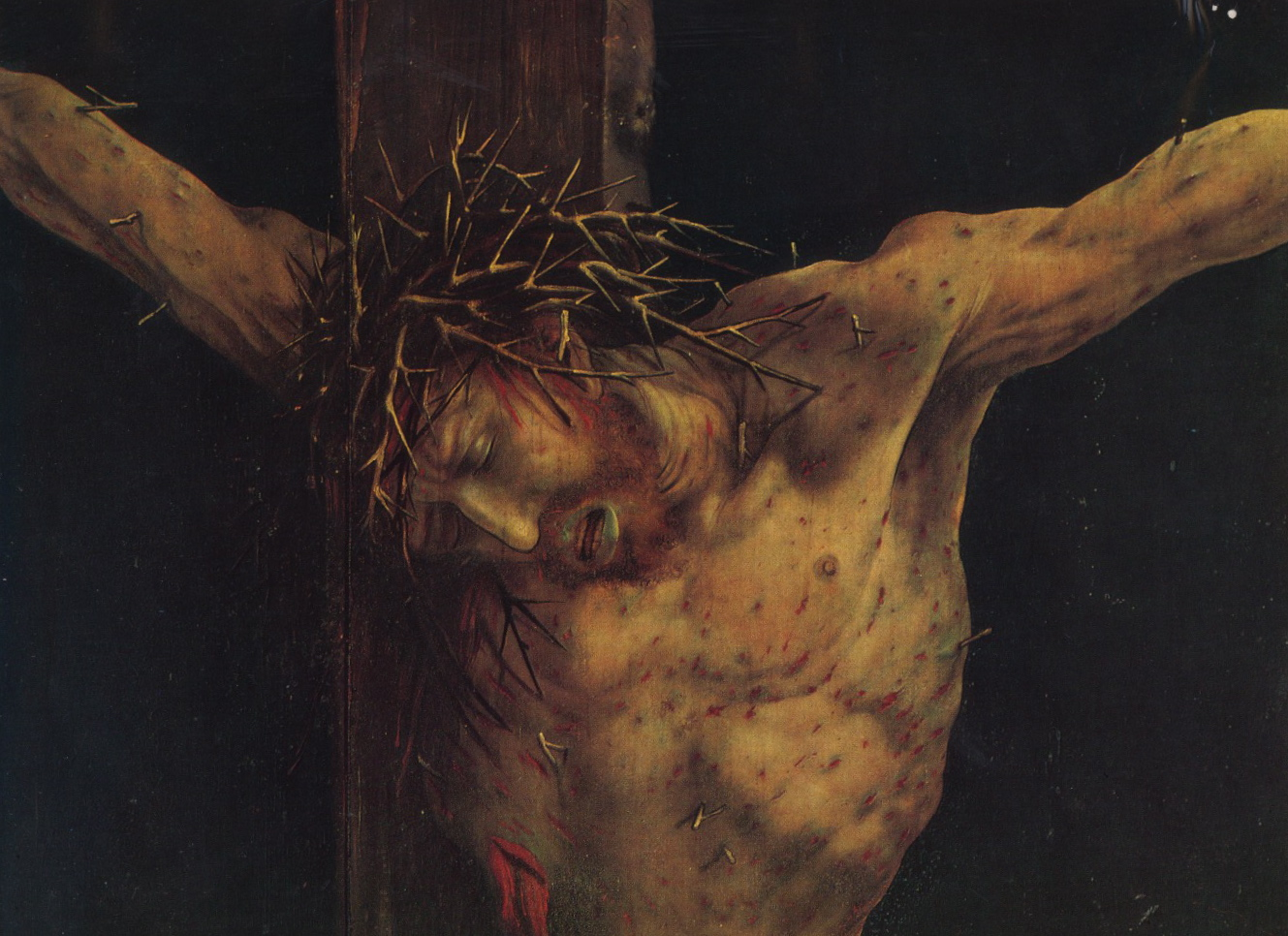 the crucifixion in the isenheim altarpiece by mathis gothart grc3bcnewald 2