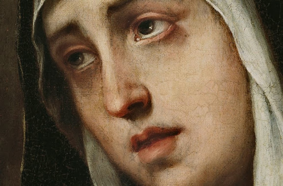 La Dolorosa detail by Murillo