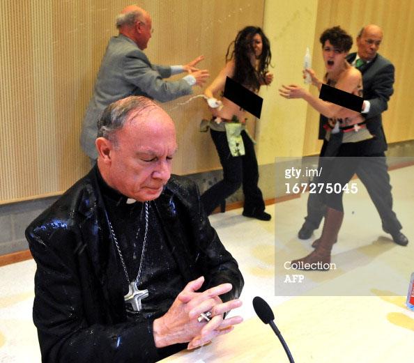 Archbishop Andre Joseph Leonard feminist femen3b