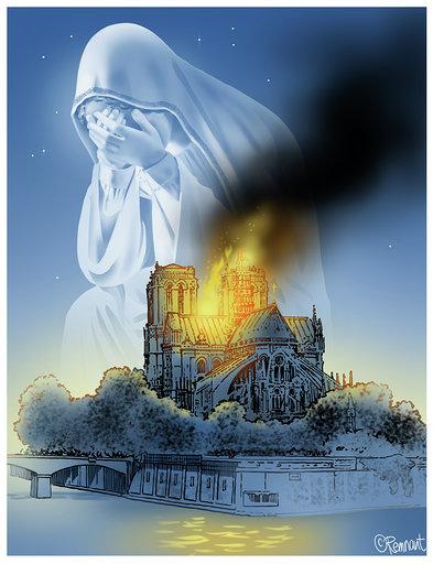 Notre Dame Cartoon