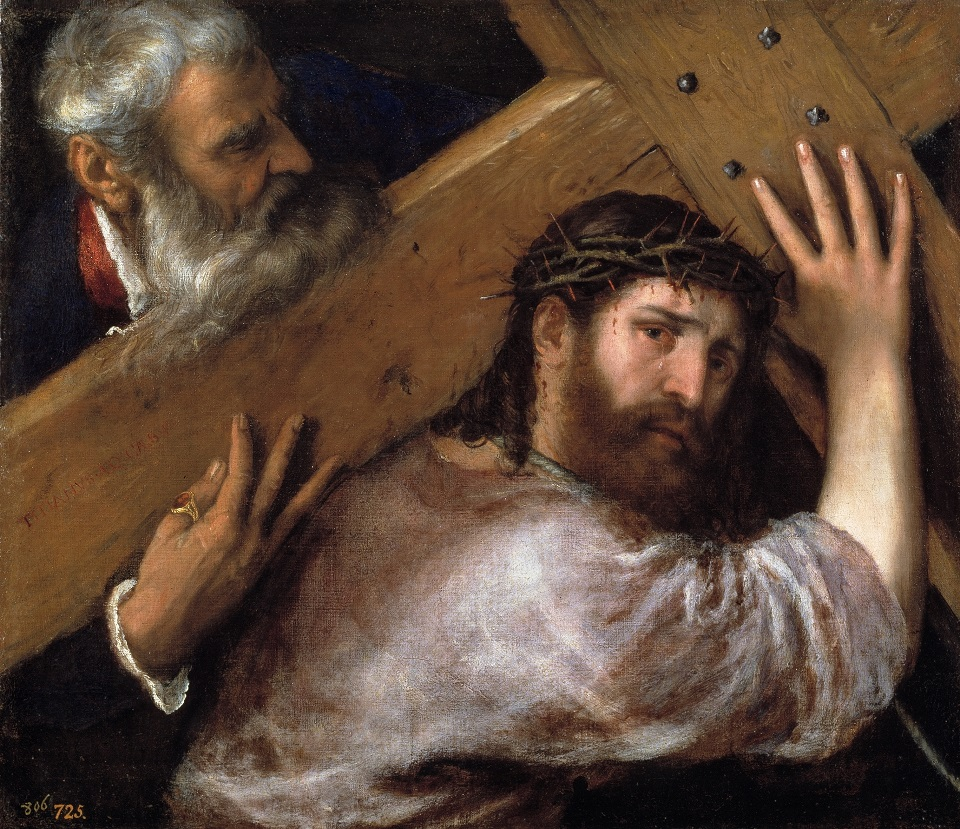 christ carries cross