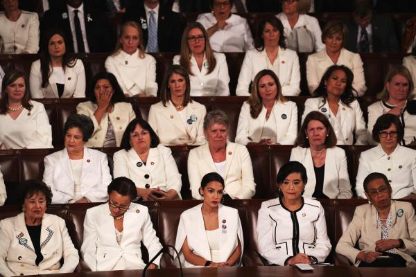 ladies in white