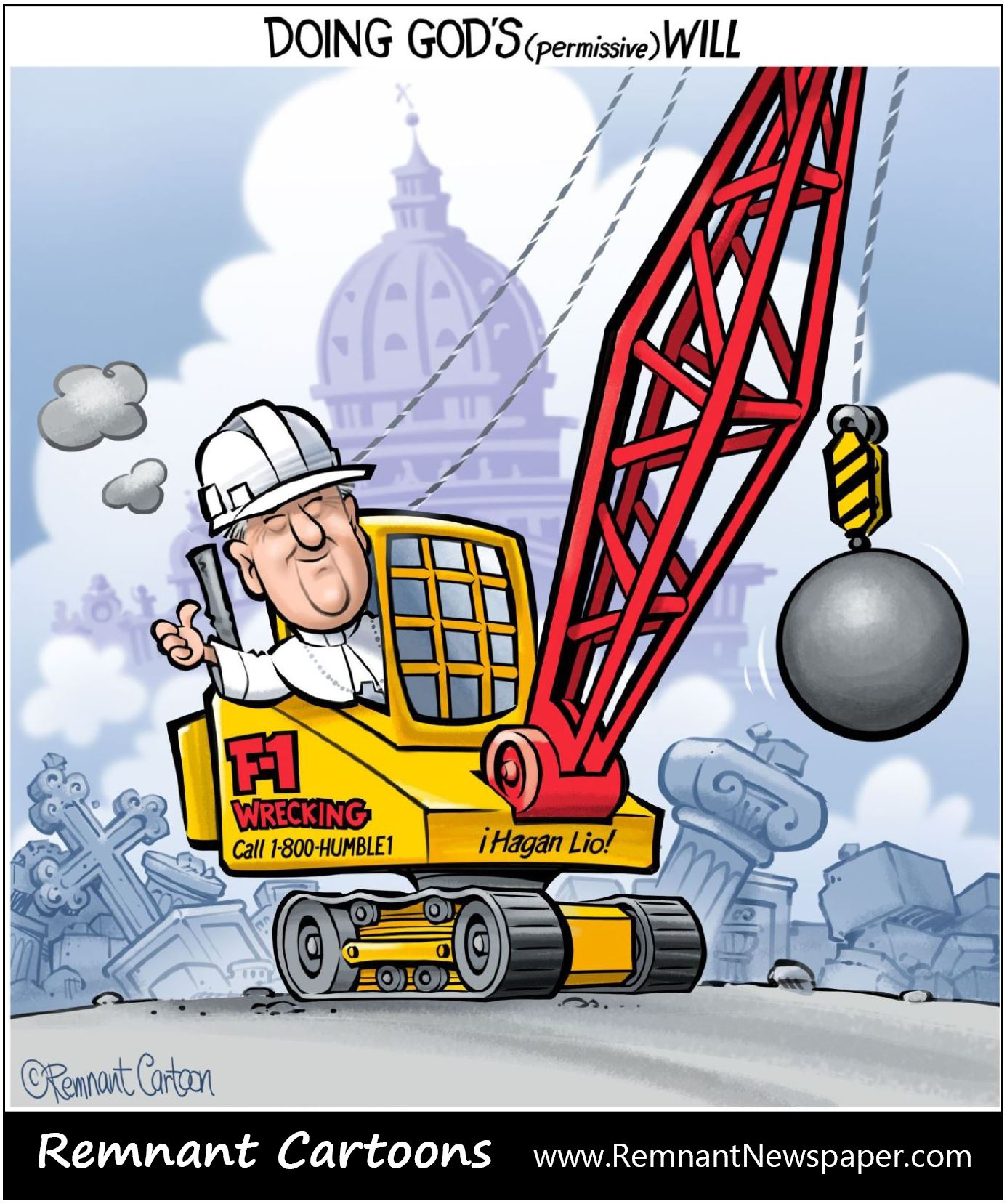 wrecking ball remnant cartoon