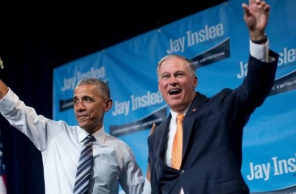 Pals: Obama and Gov. Inslee