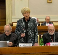 Ms. Archer, President of the Pontifical Academy of Social Sciences